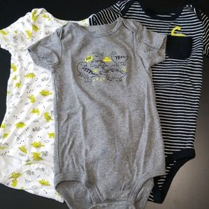 Set of 3 Dinosaur Bodysuits